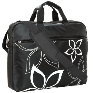 MyGift 17 inch Laptop Messenger Bag in Floral Print