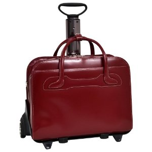 "McKlein USA W Series Willowbrook Leather Detachable Wheeled 17"" Laptop Case"