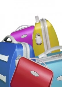 Selection Of Bright Colored Suitcases