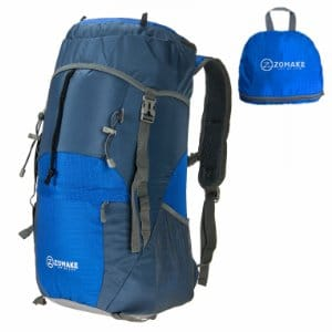 ZOMAKE 40L Foldable Travel or Hiking Backpack