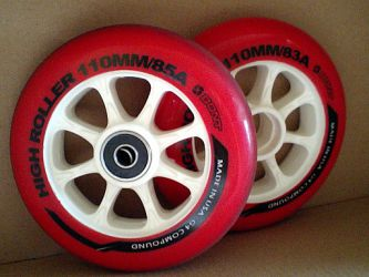 Eric & Leon Set of 2 Luggage Suitcase Replacement Wheels with ABEC 608zz Bearings