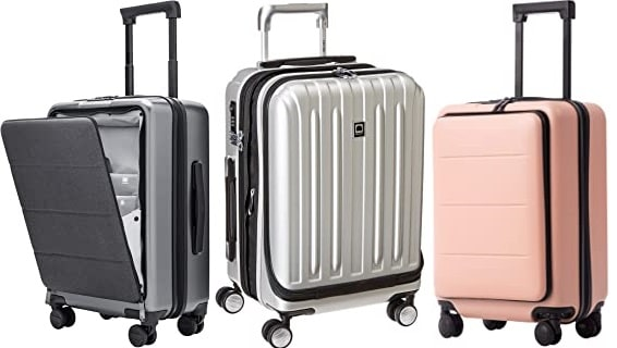 Hard Shell Suitcase with Front Pocket